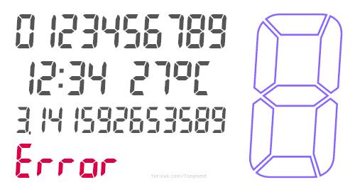 7 Segment Display Fonts On Pc Lasopafone
